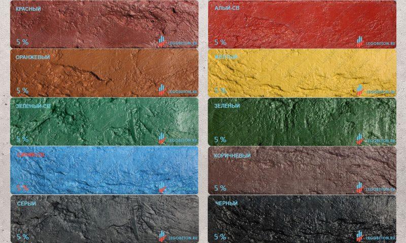 палитра окраски бетона железоокисными пигментами-1