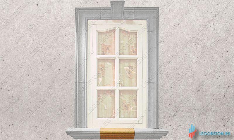 прямой отлив наличника окна