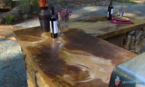 кислотная окраска бетонной столешницы из готовой смеси