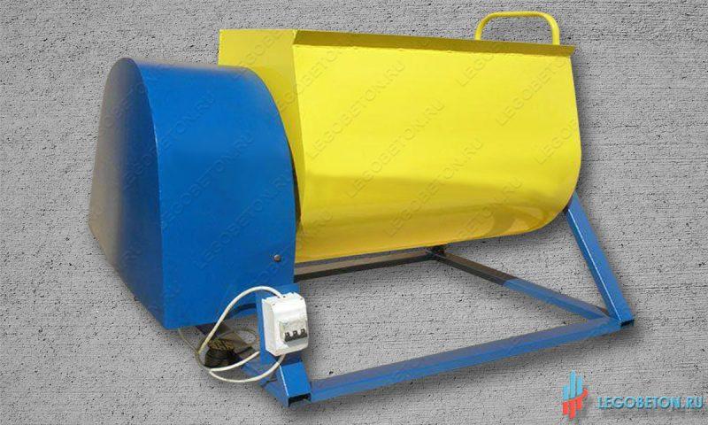 растворосмеситель горизонтальный принудительный РСПГ-300 литров