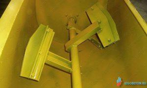 мешающие лопатки растворосмесителя принудительного с горизонтальным валом РСПГ-300 литров.