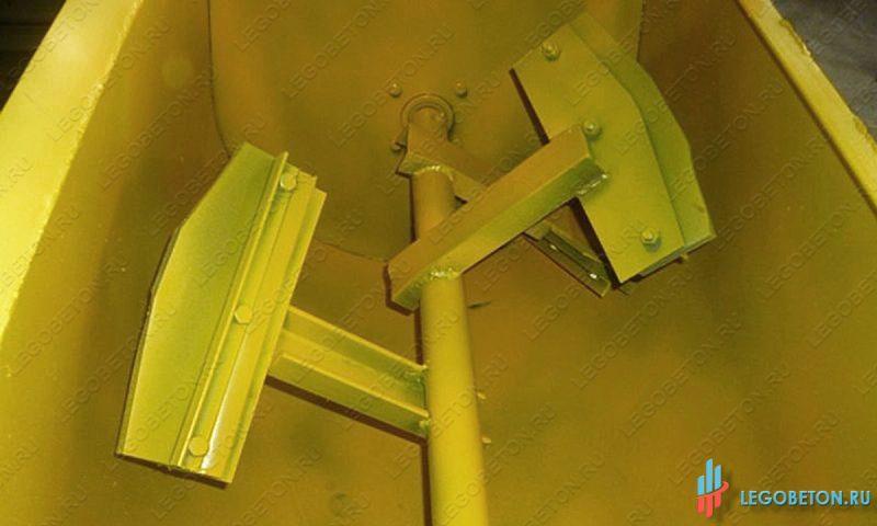 растворосмеситель принудительный с горизонтальным валом РСПГ 300 литров