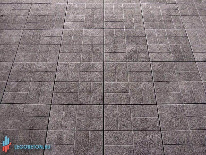 печатный бетон — 8 кирпичей-1