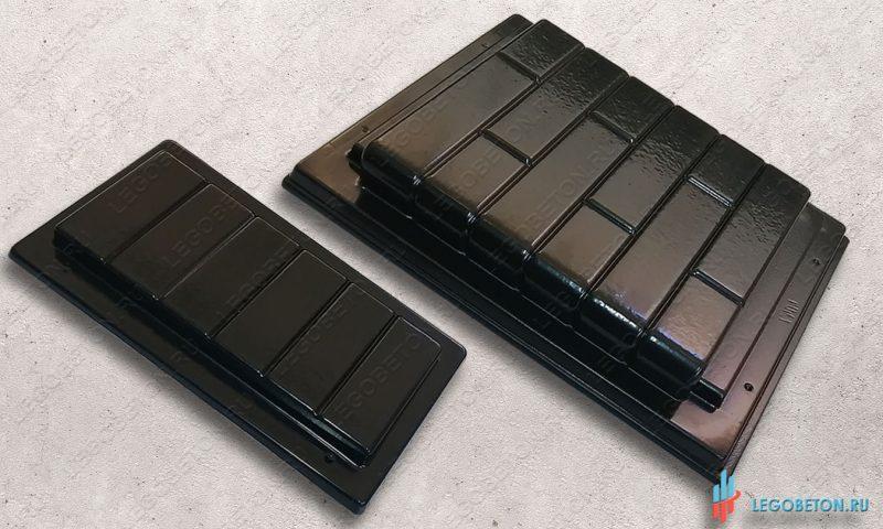 набор пластиковых форм для изготовления клинкерной ступени из бетона-1