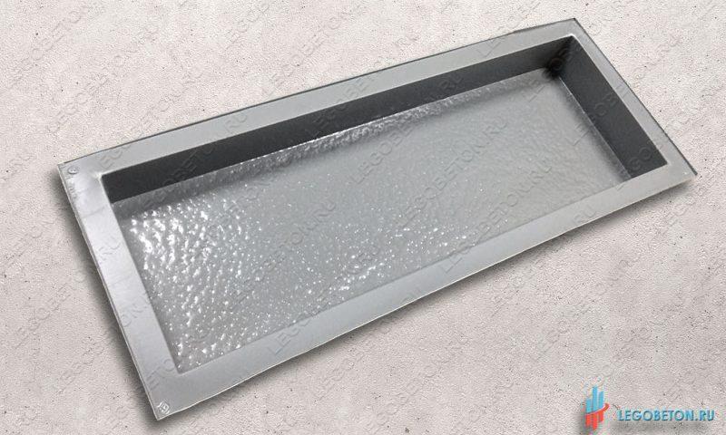 пластиковая форма из АБС доска 4 шагрень 60х20х6-2
