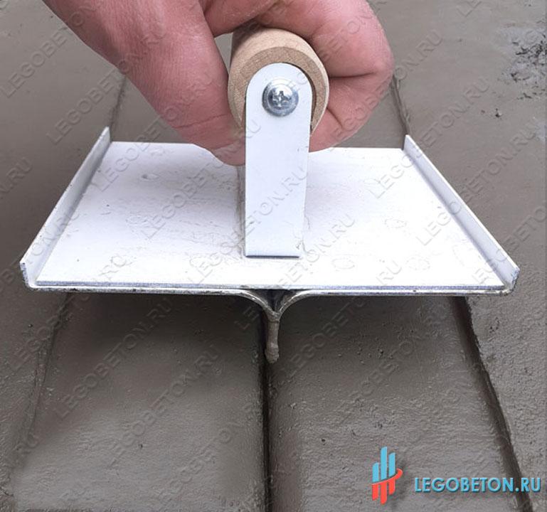 Нарезчик декоративных швов радиусный для технологии бруширования