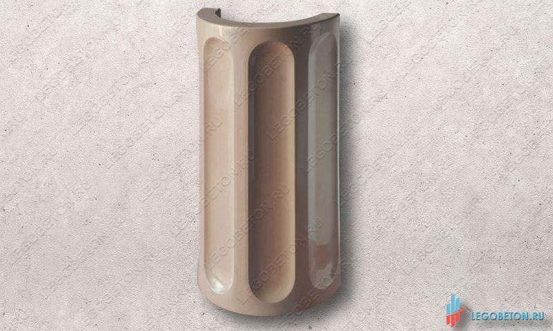 форма для изготовления круглой колонны (полуколонны) из бетона