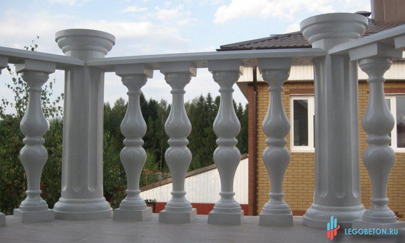 форма для изготовления круглого столба балюстрады (колонны)