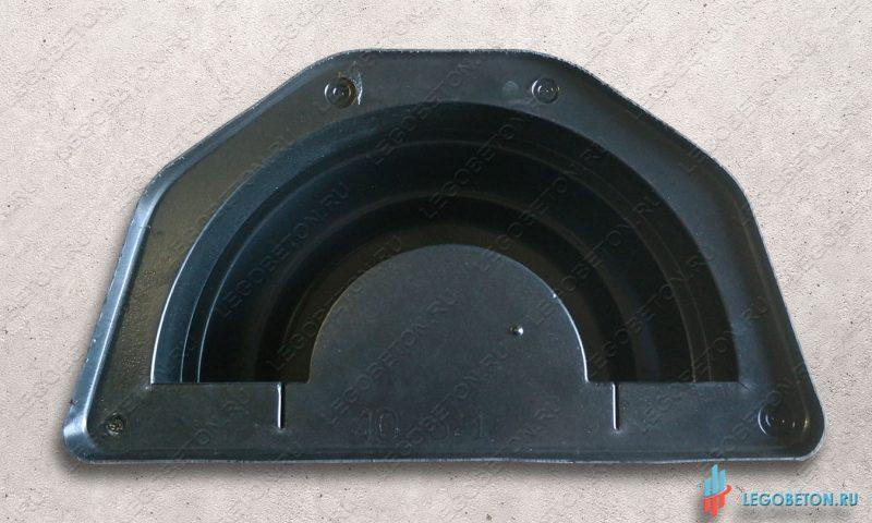 универсальная пустотелая форма для круглой базы  или крышки колонны