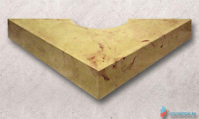 диагональная пустотелаяопора (база, капитель) колонны или полуколонны