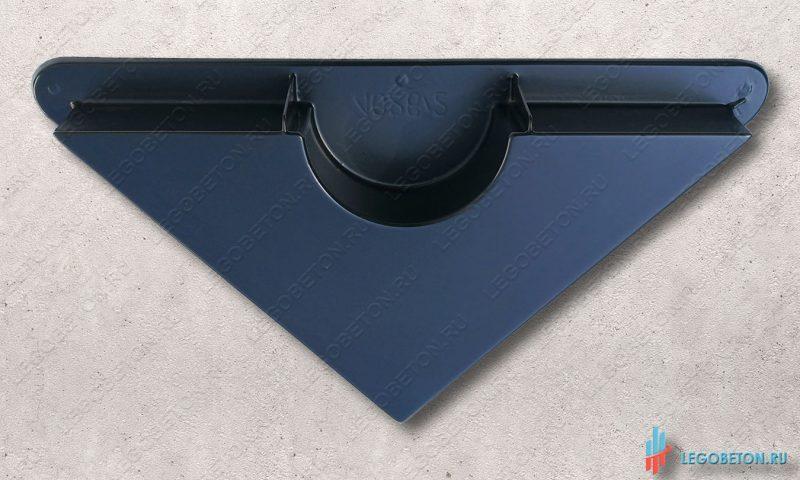 форма пластиковая для изготовления диагональной пустотелой опоры (база, капитель) колонны