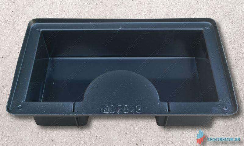 форма для отливки квадратной опоры колонны или полуколоны с отверстием 155 мм