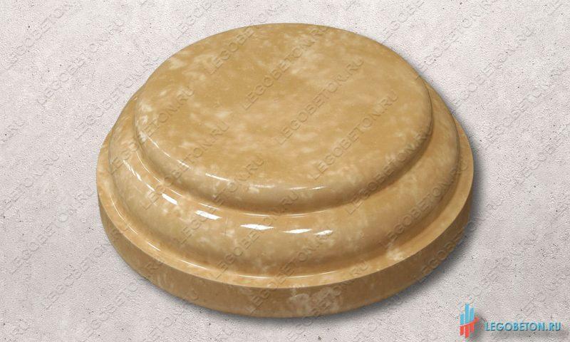 универсальная форма для круглой крышки или основания колонны