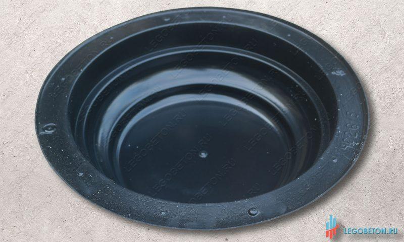 форма пластиковая для круглого основания или крышки колонны