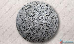 шар из бетона отлитый в стеклопластиковую форму D=500 mm