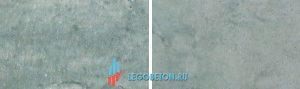 пример разбеливания при окраске бетона зеленым и черным пигментом и с добавкой диоксида титана