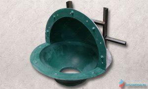 стеклопластиковая форма для изготовления шара 500 мм из бетона купить в москве