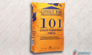 Consolit bars 101 безусадочная быстротвердеющая (В 45) тиксотропная ремонтная смесь купить в москве