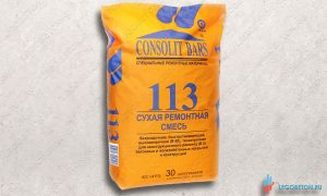 CONSOLIT BARS 113 безусадочная высокопрочная (В 60) тиксотропная ремонтная смесь купить в москве