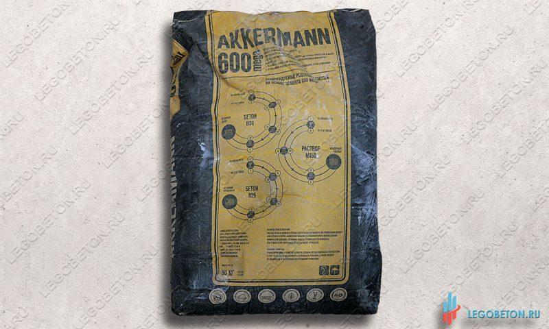 серый портландцемент М600 Д0 Akkermann бездобавочный