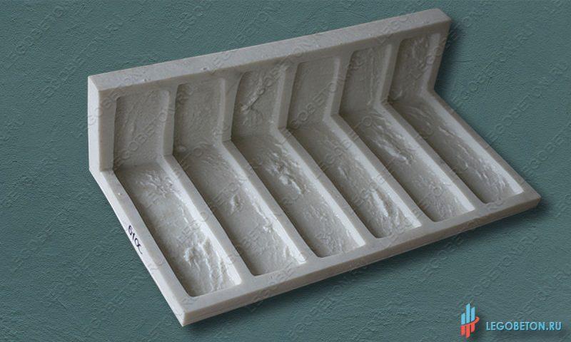 резиновая форма для плитки под кирпич Заводской литой угол-1