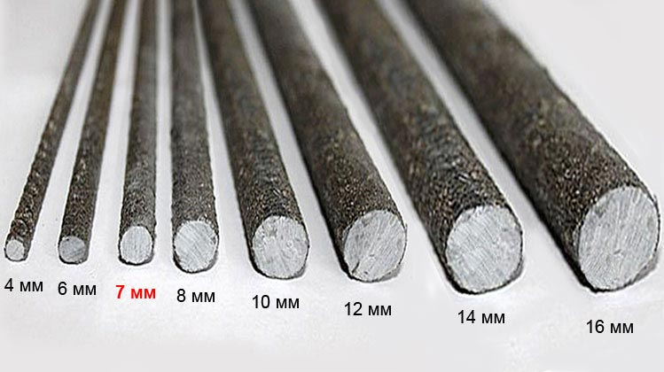 2032 Стеклопластиковая арматура 7мм ; ACK7; тип-П (песчаная)