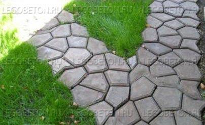 купить формы для изготовления дорожек из бетона садовых