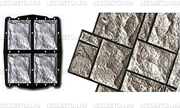 057. Форма «Камень облицовочный (Рваный № 4)» (attach1 4850)