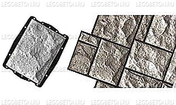 061. Форма «Камень облицовочный (Рваный № 8)» (attach1 4846)